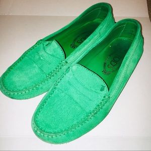 Tod's Green Driving Loafers